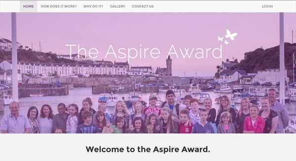 Aspire Award Front Page