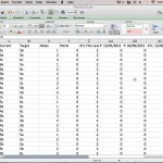 Excel Output of Historic Student Points
